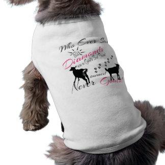Diamantes y cabras camisas de mascota