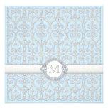 Diamantes y cordón, ducha del boda del par de los  invitación personalizada
