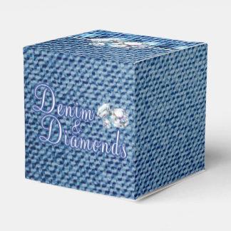 Diamantes y fiesta del dril de algodón cajas para regalos
