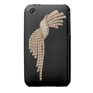 Diamantes y Funda-Estera de la curva de Blackberry iPhone 3 Case-Mate Carcasa