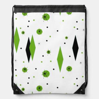 Diamantes y mochila verdes retros de Starbursts