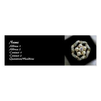 Diamantes y perlas plantilla de tarjeta de visita