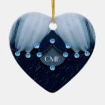 Diamantes y plumas de los azules claros ornamentos para reyes magos