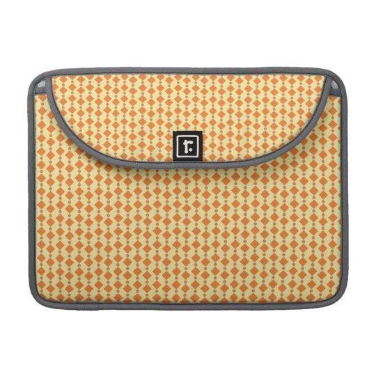 Diamantes y puntos del naranja y del color de la p fundas para macbook pro