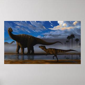 Diamantinasaurus and Australovenator Poster