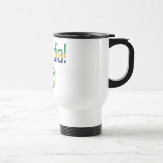 ¡Diámetro de Bom! Colores de la bandera del Brasil Tazas De Café