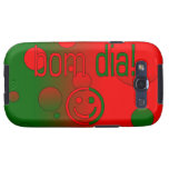 ¡Diámetro de Bom! La bandera de Portugal colorea a Samsung Galaxy S3 Fundas
