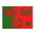 ¡Diámetro de Bom! La bandera de Portugal colorea a Impresión De Lienzo