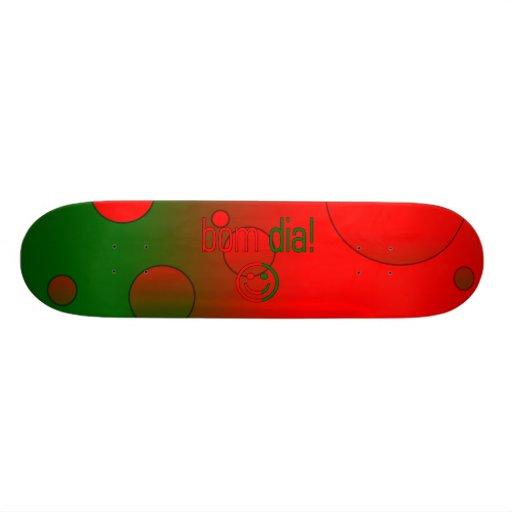 ¡Diámetro de Bom! La bandera de Portugal colorea a Tablas De Patinar