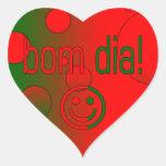 ¡Diámetro de Bom! La bandera de Portugal colorea Calcomanías De Corazones Personalizadas