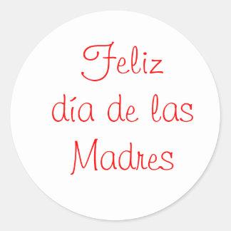 Diámetro de las Madres de Feliz Pegatinas Redondas