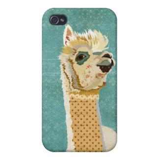 Diamomond Alpaca Blue iPhone Case