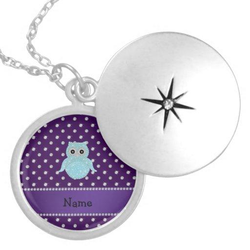 Diamon bling personalizado de la púrpura de los di pendientes
