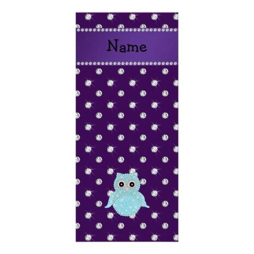 Diamon bling personalizado de la púrpura de los di lona