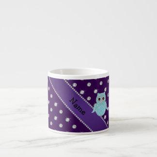Diamon bling personalizado de la púrpura de los di tazita espresso