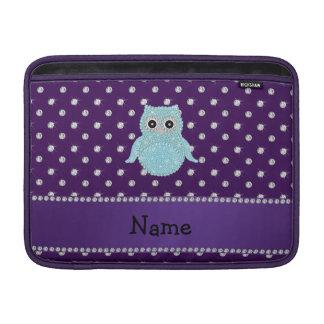 Diamon bling personalizado de la púrpura de los funda para macbook air