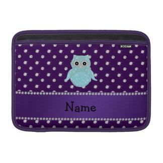 Diamon bling personalizado de la púrpura de los fundas para macbook air
