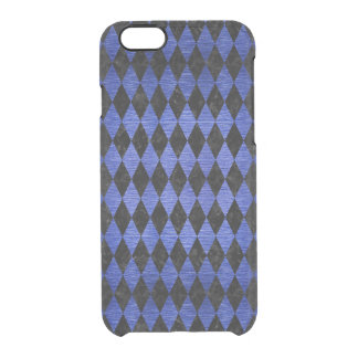 DIAMOND1 BLACK MARBLE & BLUE BRUSHED METAL CLEAR iPhone 6/6S CASE