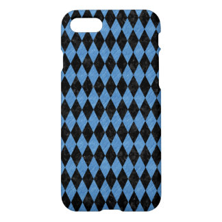 DIAMOND1 BLACK MARBLE & BLUE COLORED PENCIL iPhone 8/7 CASE