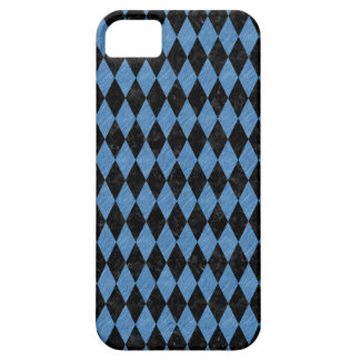DIAMOND1 BLACK MARBLE & BLUE COLORED PENCIL iPhone SE/5/5s CASE