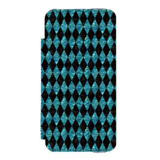 DIAMOND1 BLACK MARBLE & BLUE-GREEN WATER WALLET CASE FOR iPhone SE/5/5s