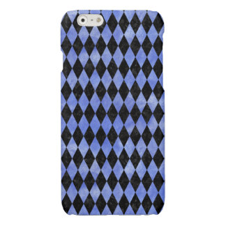DIAMOND1 BLACK MARBLE & BLUE WATERCOLOR GLOSSY iPhone 6 CASE