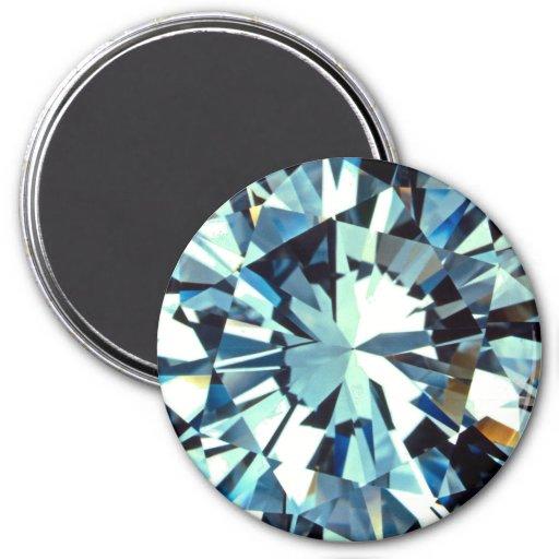 Diamond 3 Inch Round Magnet