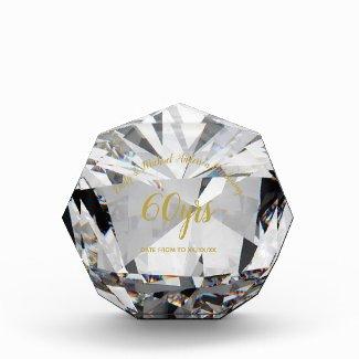 DIAMOND 60th Wedding Anniversary Crystal Gem Look