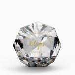 """DIAMOND 60th Wedding Anniversary Crystal Gem Look Award<br><div class=""""desc"""">Wonderful giant diamond looking award for your parents,  mom and dad or grandparents celebrating a 60th Diamond wedding anniversary.</div>"""