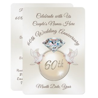 Diamond 60th Wedding Anniversary Invitations