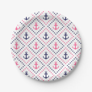 Diamond Anchor NP Paper Plate