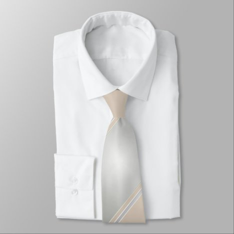 Diamond and Champagne-Colored Neck Tie