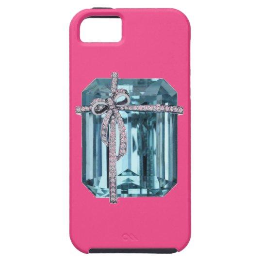 Diamond and Emerald Art iPhone 5 Case
