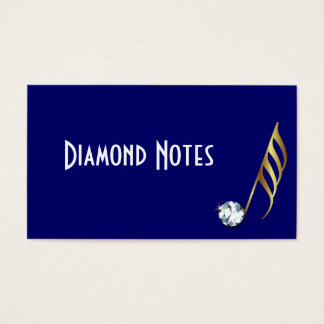 Diamond and Gold Musical Note Business Card