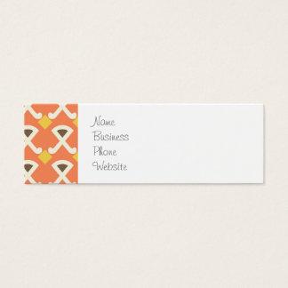 Diamond and Hooks Peach Gold Pattern Mini Business Card
