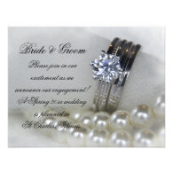 Diamond and Pearls Engagement Announcement