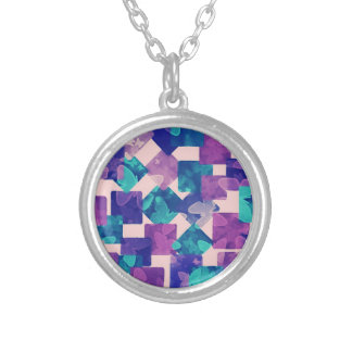 Diamond and Squares with Butterflies Necklace