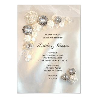 Diamonds and pearls invitations announcements zazzle for Pearl wedding invitations