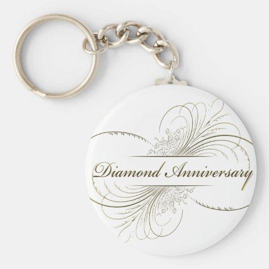Diamond anniversary keychain