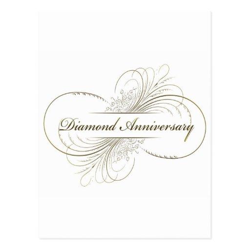 Diamond anniversary post card
