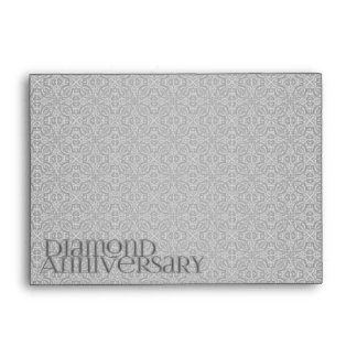Diamond Anniversary Thank You Note Card A6 Envelope