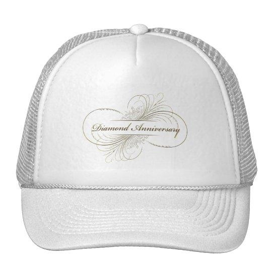 Diamond anniversary trucker hat