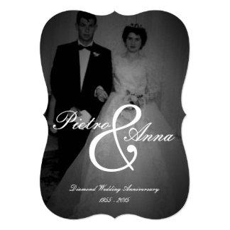 Diamond Anniversary with Vintage Me | Bracket Edge 5x7 Paper Invitation Card