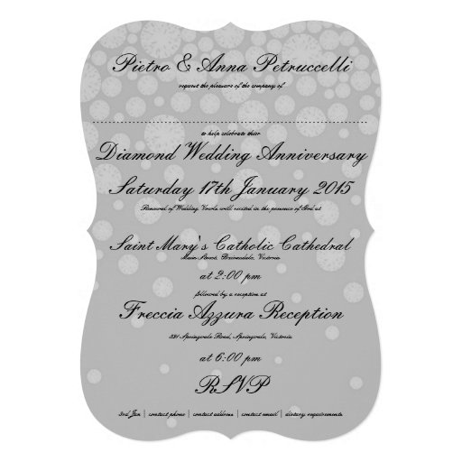 Diamond Anniversary with Vintage Me | Bracket Edge Cards (back side)