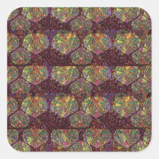 Diamond Art pattern TEMPLATE add TEXT GREETINGS Square Sticker