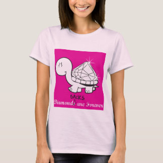 """""""Diamond(back)s Are Forever"""" Ladies - Pink T-Shirt"""