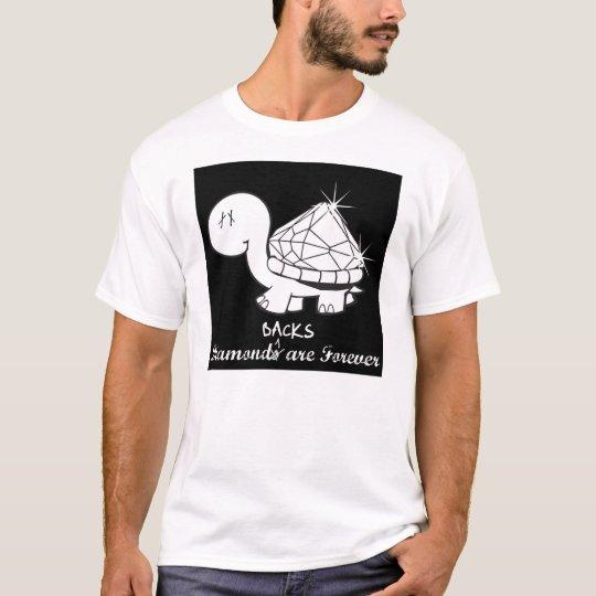 """""""Diamond(back)s Are Forever"""" Mens - Black T-Shirt"""