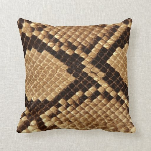 Snake Cushion Knitting Pattern : Diamond Back Snake Skin Throw Pillow Zazzle