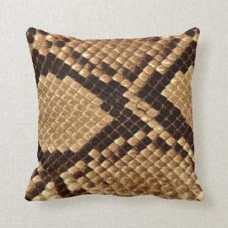 Diamond Back Snake Skin Throw Pillow