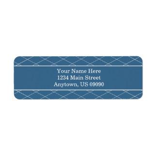 Diamond Background Address Labels (Blue)